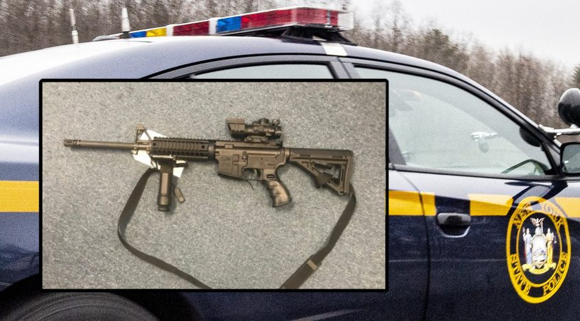 The gun troopers said they recovered. - Credit: New York State Police