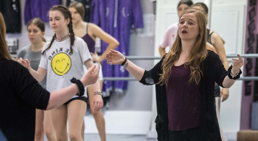 Brianna Ryan, owner of Dance Me on Union Street in Schenectady leads a tap dancing class in her studio recently