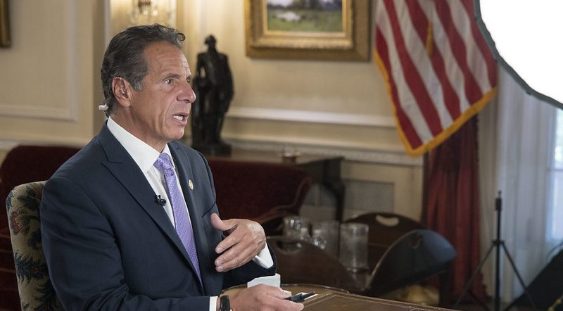 GOVERNOR'S OFFICEGov. Andrew Cuomo speaks Wednesday at a virtual meeting.