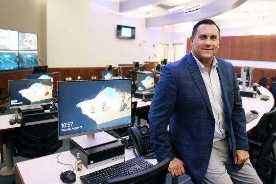 This August 2020 photo shows Saratoga County Office of Emergency Services Commissioner Carl Zeilman inside the Emergency Operations Center at the Saratoga County Public Safety Building in Ballston Spa.