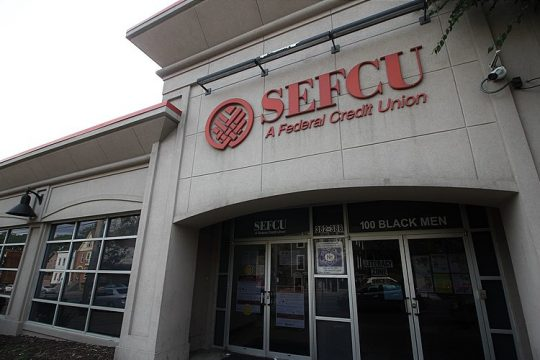 This September 2020 photo shows a SEFCU credit union on Clinton Avenue in the Arbor Hill neighborhood of Albany. (Photo provided by Tyler A. McNeil/WikiMedia Commons)