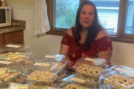 Tracy Sweet is pictured in her Rotterdam-based home bakery, Nona Anne's Kitchen.