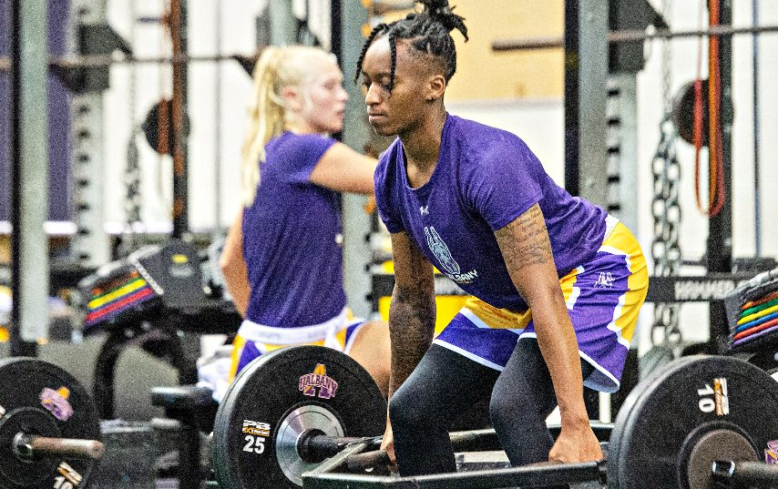 UAlbany women's basketball player Fatima Lee during workouts at practice at UAlbany in Albany on Thursday, July 29, 2021. (Erica Miller/The Daily Gazette)