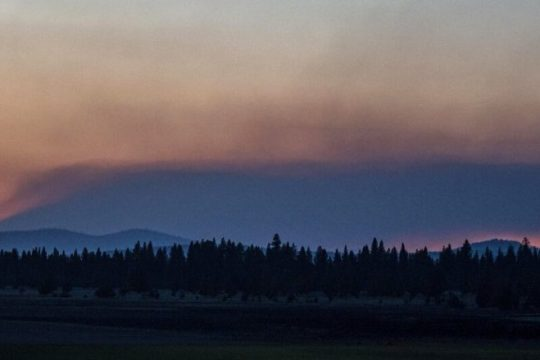 Smoke rises from the Bootleg Fire on Wednesday, July 21, 2021 near Bly, Ore.