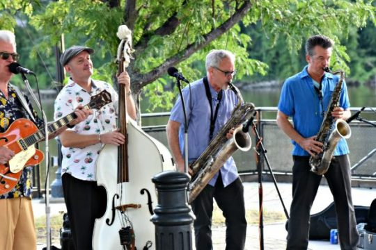 The Lustre Kings played before a full house at Riverlink Park on Saturday, July 31, 2021. The performance was part of the city's weekly Summer Concert series, which continues through the month of August.