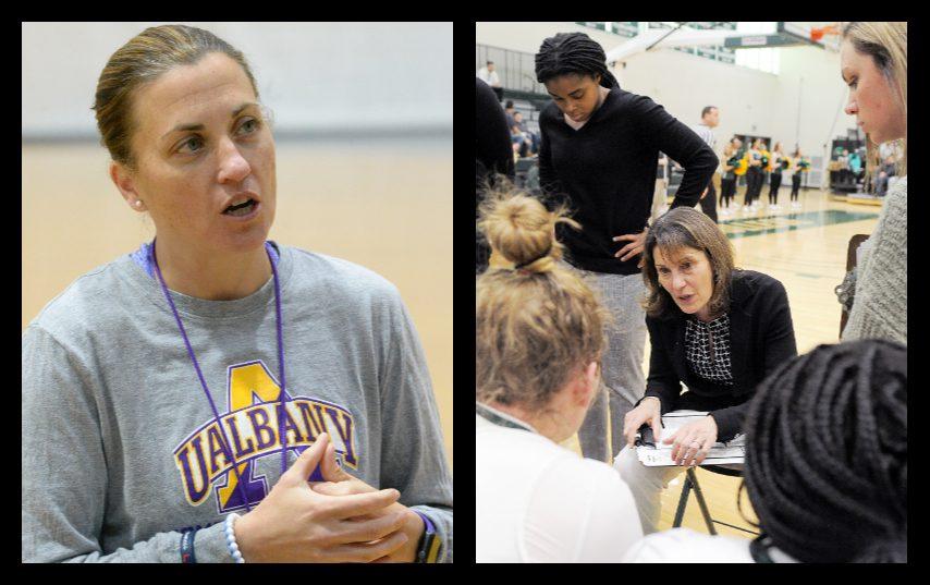Colleen Mullen, left, and Gina Castelli. (Gazette file, Le Moyne Athletics photos)
