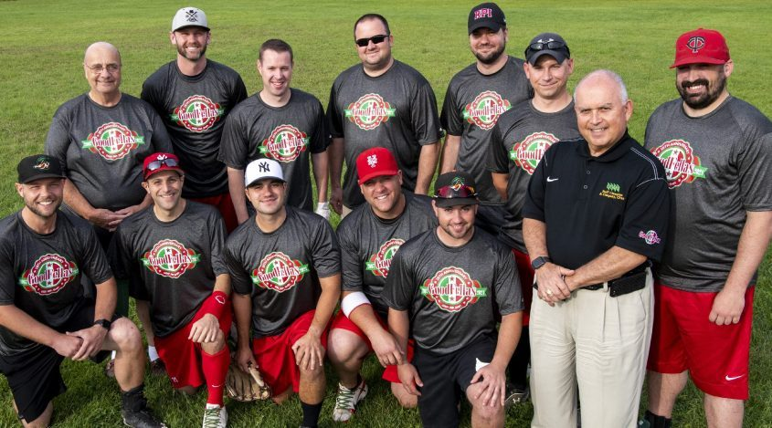 The Goodfellas softball team is pictured at the Field of Dreams Park in Albany on Tuesday.