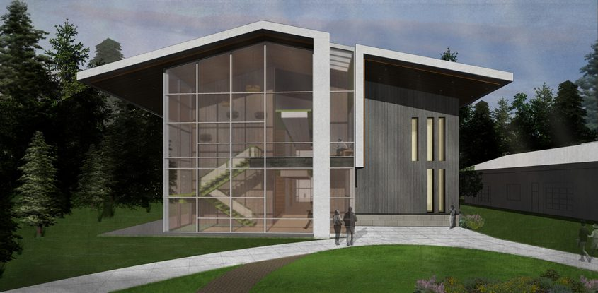 A rendering of the STEM education center to be built at the HVCC North campus in Malta.
