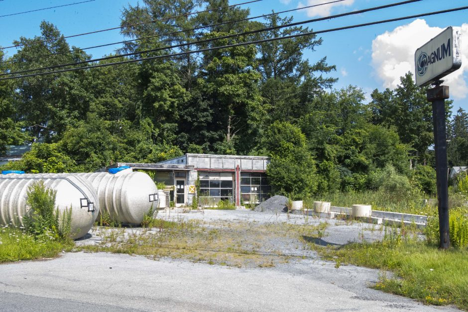 The former Magnum gas station at Route 50 and N. Lake Avenue in Burnt Hills is pictured on Friday.