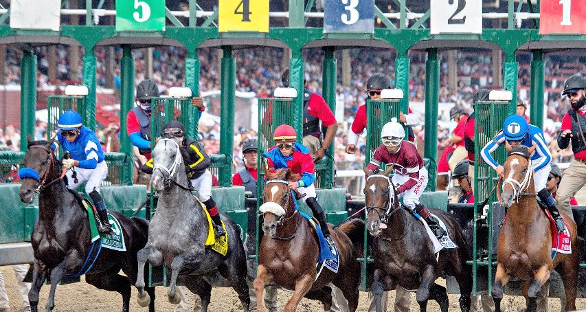 The start of the Grade I Whitney Stakes at Saratoga Race Course in Saratoga Springs on Saturday, August 7, 2021.
