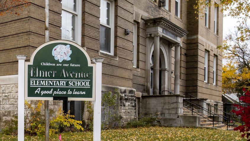 The former Elmer Avenue Elementary School in Schenectadyin October