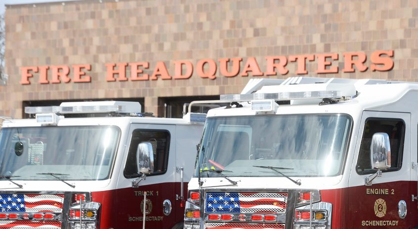 This February file photo shows newSchenectady Fire Department at Station 1 on Veeder Avenue.