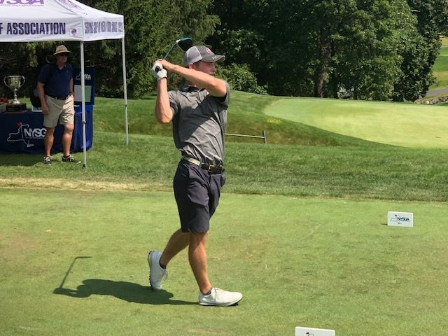 James Allen of Scarsdale Golf Club shot a 6-under-par 66 in the final round and an 8-under-par 280 four-round total to win the 98th NYS Men's Amateur Thursday at Schuyler Meadows.