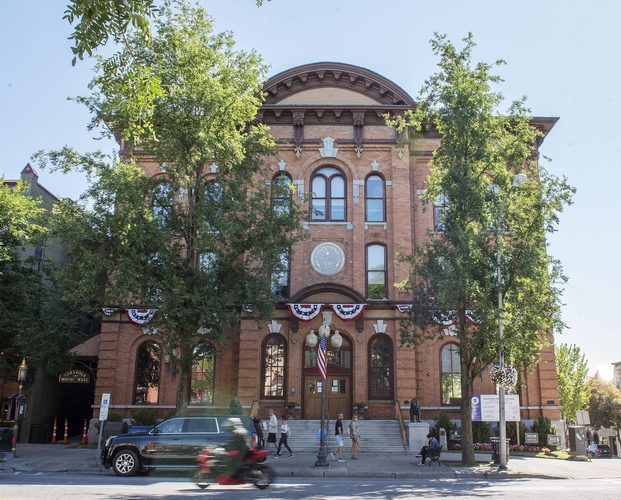 Saratoga Springs City Hall is seen on Sept. 5, 2020.