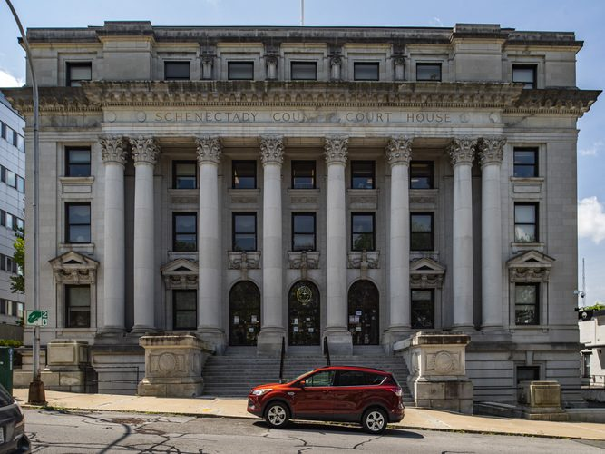 A broken air conditioner closed the Schenectady Couny Court House on State Street in Schenectady Friday, causing all afternoon proceedings to be conducted virtually.