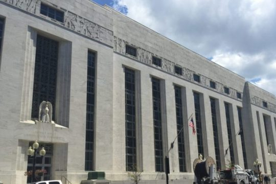 This file photo shows the federal courthouse in Albany.