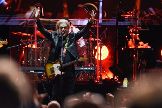 Daryl Hall with Hall & Oates performs on stage during their tour at SPAC in Saratoga Springs on Sunday, August 15, 2021.