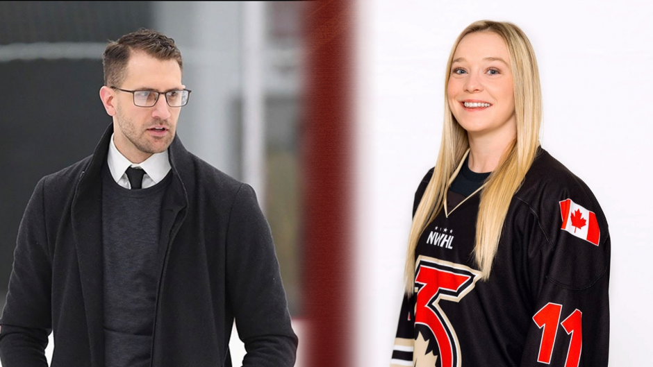 ChrisArdito, left, and Breanne Wilson-Bennett are the new Union College women's hockey assistant coaches. (Photo courtesy Union Athletics)