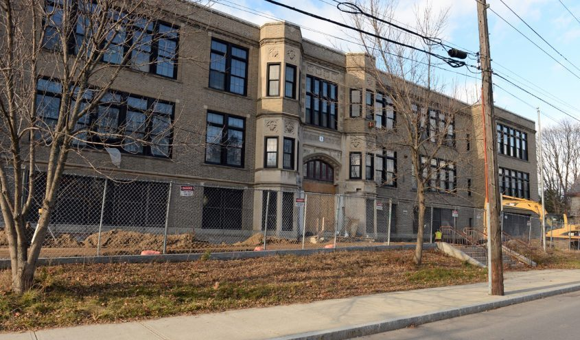 This 2015 file photo shows the exterior of Oneida Middle School.