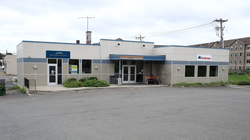 The Trailways bus station at 22 State St. in Schenectady is shown Wednesday, Aug. 18, 2021.