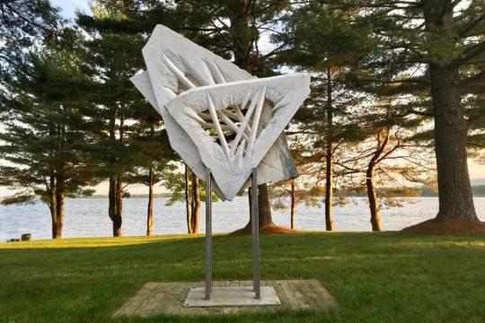 A Caroline Ramersdorfer sculpture in Wells. (photo provided)