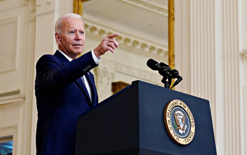 President Joe Biden speaks from the East Room of the White House in Washington, Tuesday, Aug. 10, 2021. (Susan Walsh/The Associated Press)