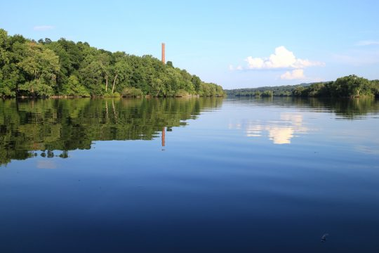A scene of the Mohawk River in Amsterdam on Tuesday, Aug. 1, 2017. (Gazette File Photo)