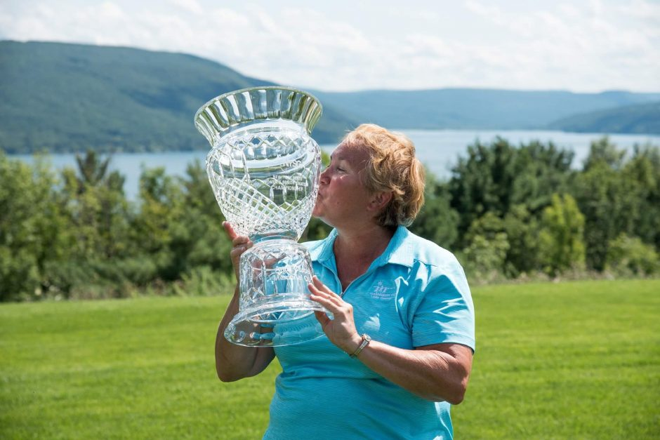Mary Sicard of Queensbury CC is the defending champion and three-time winner of the NYS Senior Women's Amateur Championship to be played Tuesday and Wednesday at Pinehaven CC. (NYSGA photo)