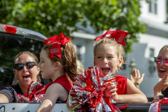 Niskayuna Youth Cheerleaders were among the participants in this year's Niska Day parade, which was held on a smaller scale and on a new route down Story Avenue in Niskayuna on Saturday.