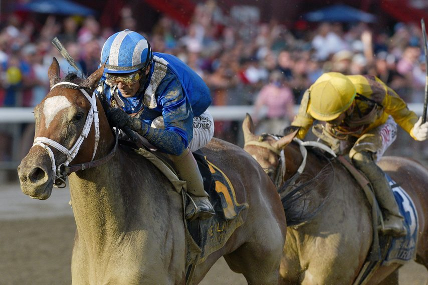Malathaat and jockey John Velazquez cruise to victory in the Grade I Alabama at Saratoga on Saturday.