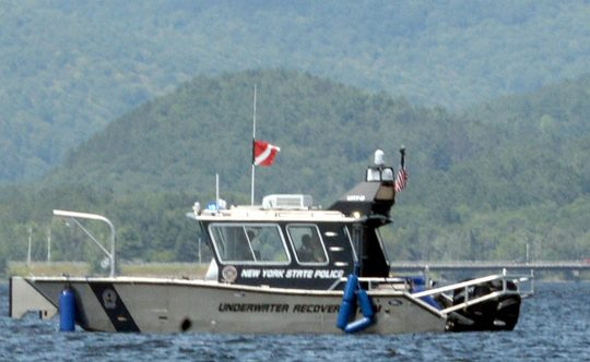 File Photo: A New York State Police boat on Great Sacandaga Lake in 2019