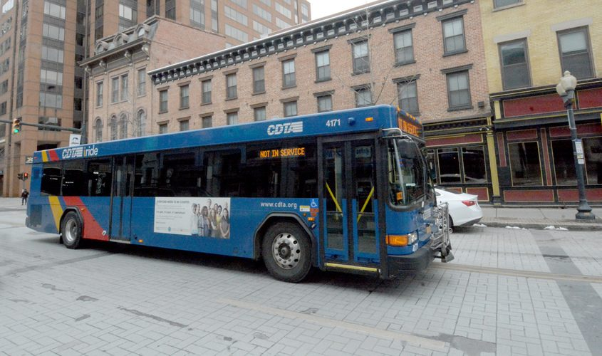 This file photo shows a CDTA busin Albany.