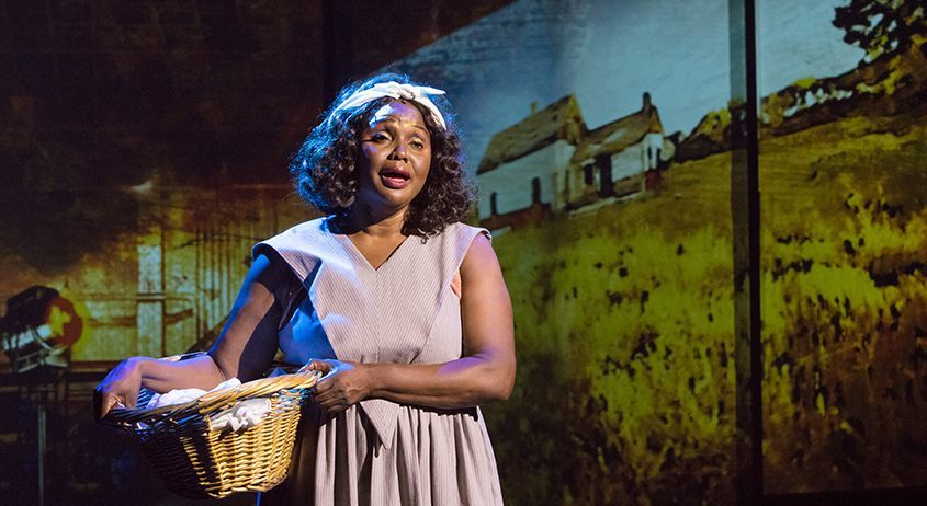 """Jannie Jones in """"Ethel Waters: His Eye Is on the Sparrow"""" at Capital Repertory Theatre in Albany. (photo by Doug Liebig)"""