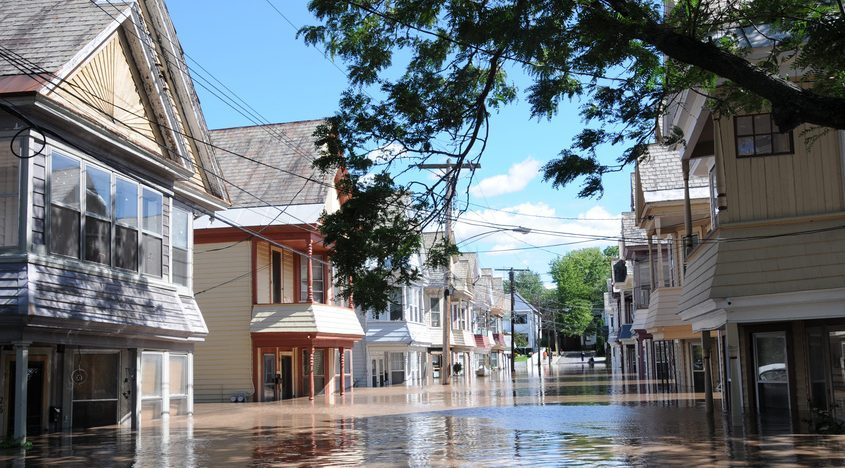 Schenectady's Stockade neighborhood is flooded in the wake of Tropical Storm Irene in August 2011.