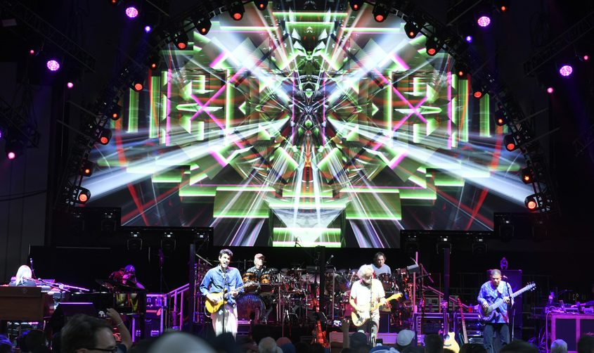 """John Mayer and Bob Weir of Grateful Dead & Co. perform at SPACin 2019. This year's show is sold out except for some resales through Live Nation, but no one should miss Putnam Place's show after party. The doors open at 10 p.m., but the main act """"Shred is Dead"""" gets started at 11:30 p.m."""