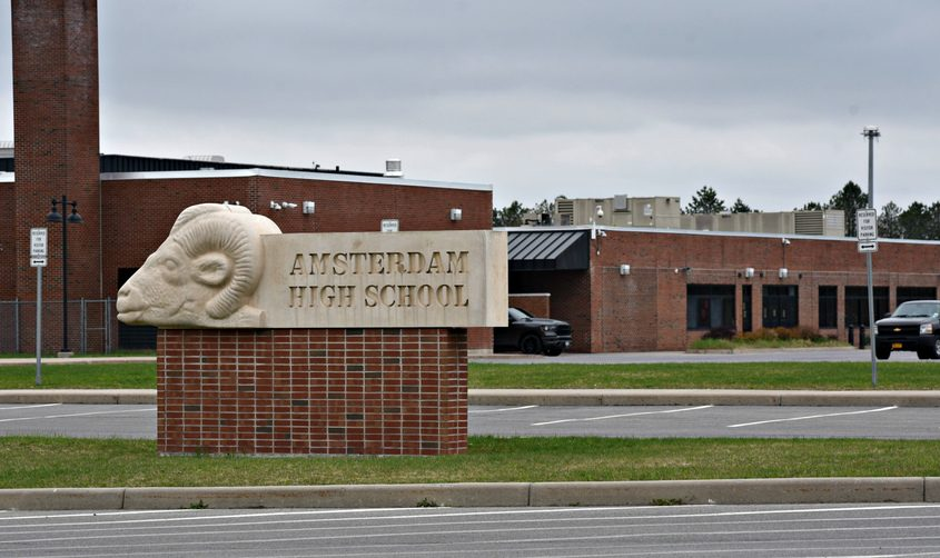This April file photo shows Amsterdam High School.