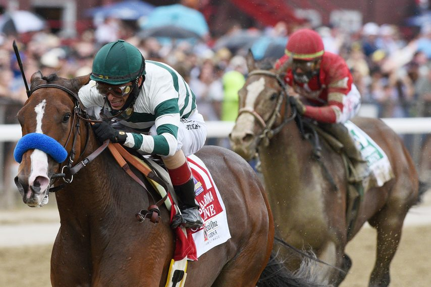 Gamine and John Velazquez roll to a victory in the Grade I Ballerina at Saratoga on Saturday.