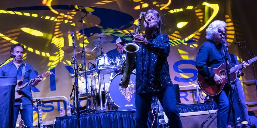 The Lords of 52nd Street perform at the amphitheatre at Mohawk Harbor Saturday.