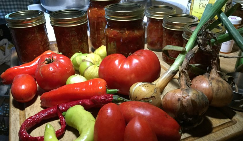 Summer's abundance is perfect for making sauces and salsas. (Margaret Hartley)