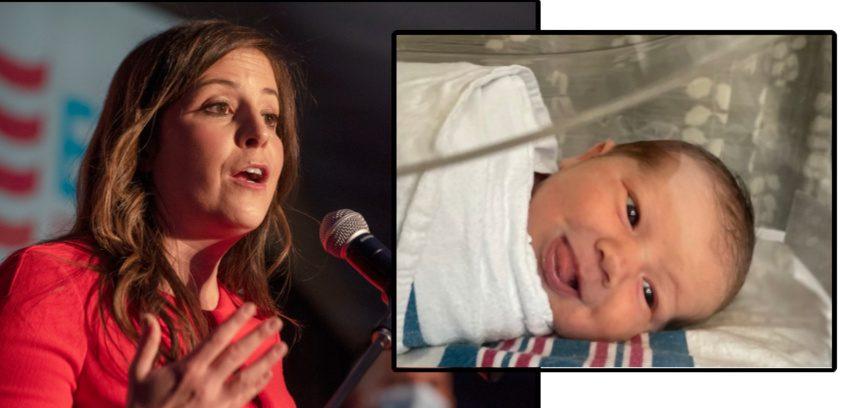 Rep. Elise Stefanik (File) and her newborn son Sam (Provided)