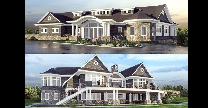 Architectural renderings show the proposed design of the new Amsterdam Municipal Golf Course clubhouse.