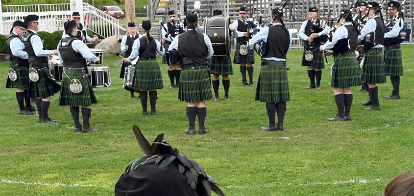 The Schenectady Pipe Band performs at the 2019 Scottish Games that were held at the Altamont Fairgrounds.