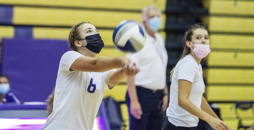 ERICA MILLER/THE DAILY GAZETTE   Ballston Spa's Marissa Moral hits the ball during their volleyball game against Shenendehowa at Ballston Spa High School in Ballston Spa on Wednesday, September 1, 2021.
