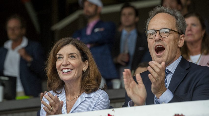 New York State Governor Kathy Hochul and her husband Bill attended Travers Day at Saratoga Race Course on Aug. 28.