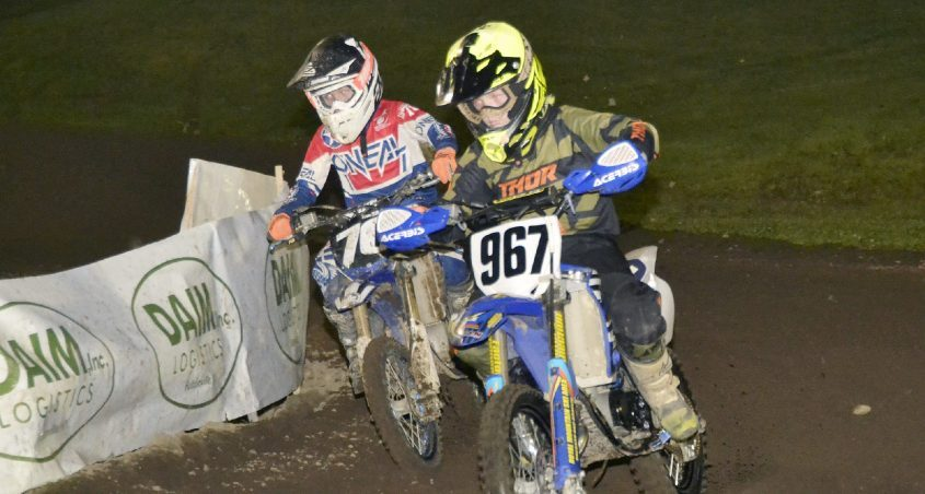 Johnstown's Kip Simonds (967) won the junior mini 9-to-11-year-old and mini 60cc 7-to-11-year-old track titles during supercross competition at Royal Mountain Ski Area in Caroga Lake. (Paul Wager)