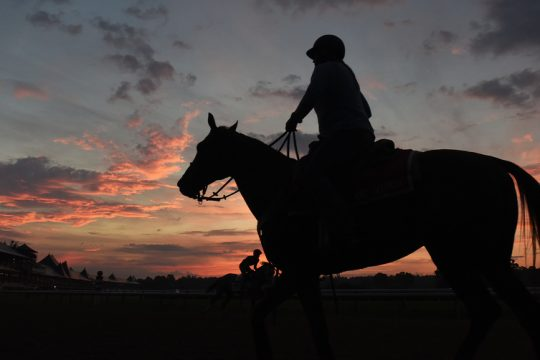 The sun sets on another meet at Saratoga Race Course this Labor Day.