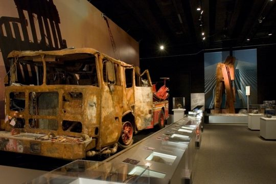 Exhibit shot of the World Trade Center Gallery. Photo provided by the New York State Museum.