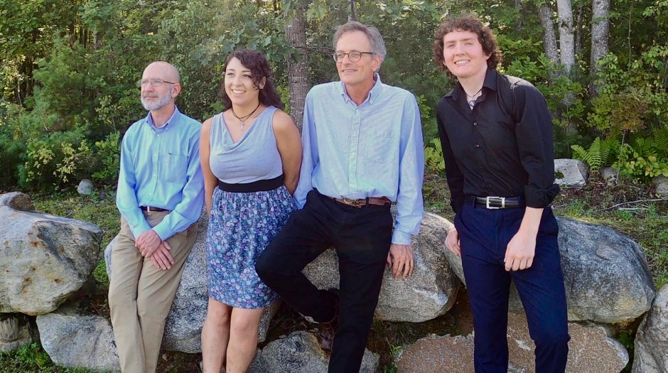 From left, Brett L. Wery, Areli Mendoza-Pannone, Mark Evans and Robert Frazier at Avaloch Farm Music Institute in New Hampshire. (photo provided)