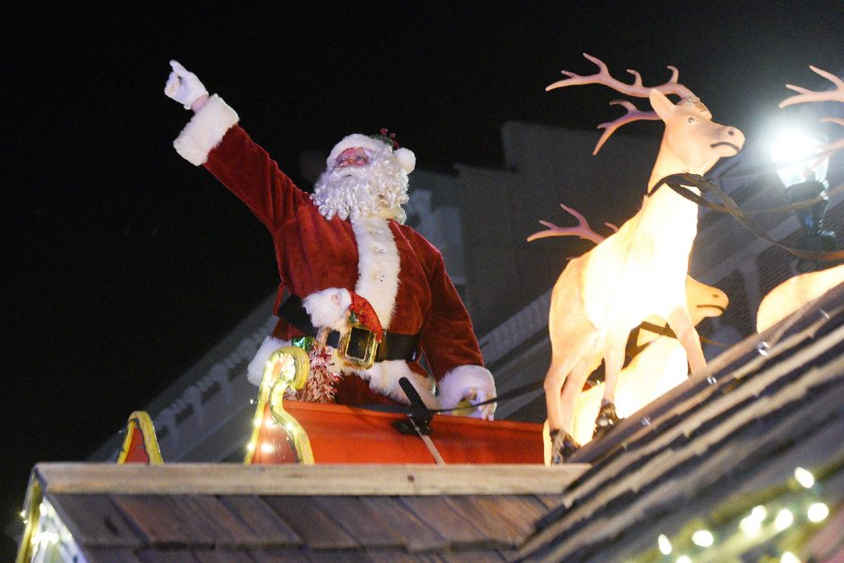 Santa and Mrs. Clause in the Schenectady Holiday Parade on State Street in Schenectady on Saturday, November 23, 2019.