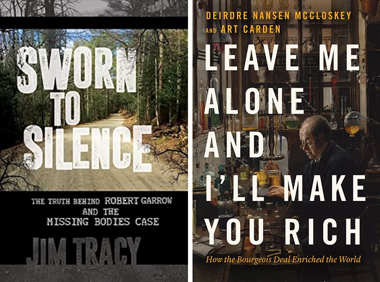 """""""Leave Me Alone and I'll Make You Rich"""" and """"Sworn to Silence"""" are two of the books to be discussed in the Books Sandwiched In series."""